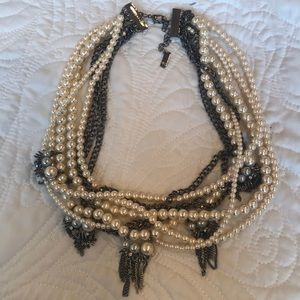 Statement Multi Chain Pearl Necklace